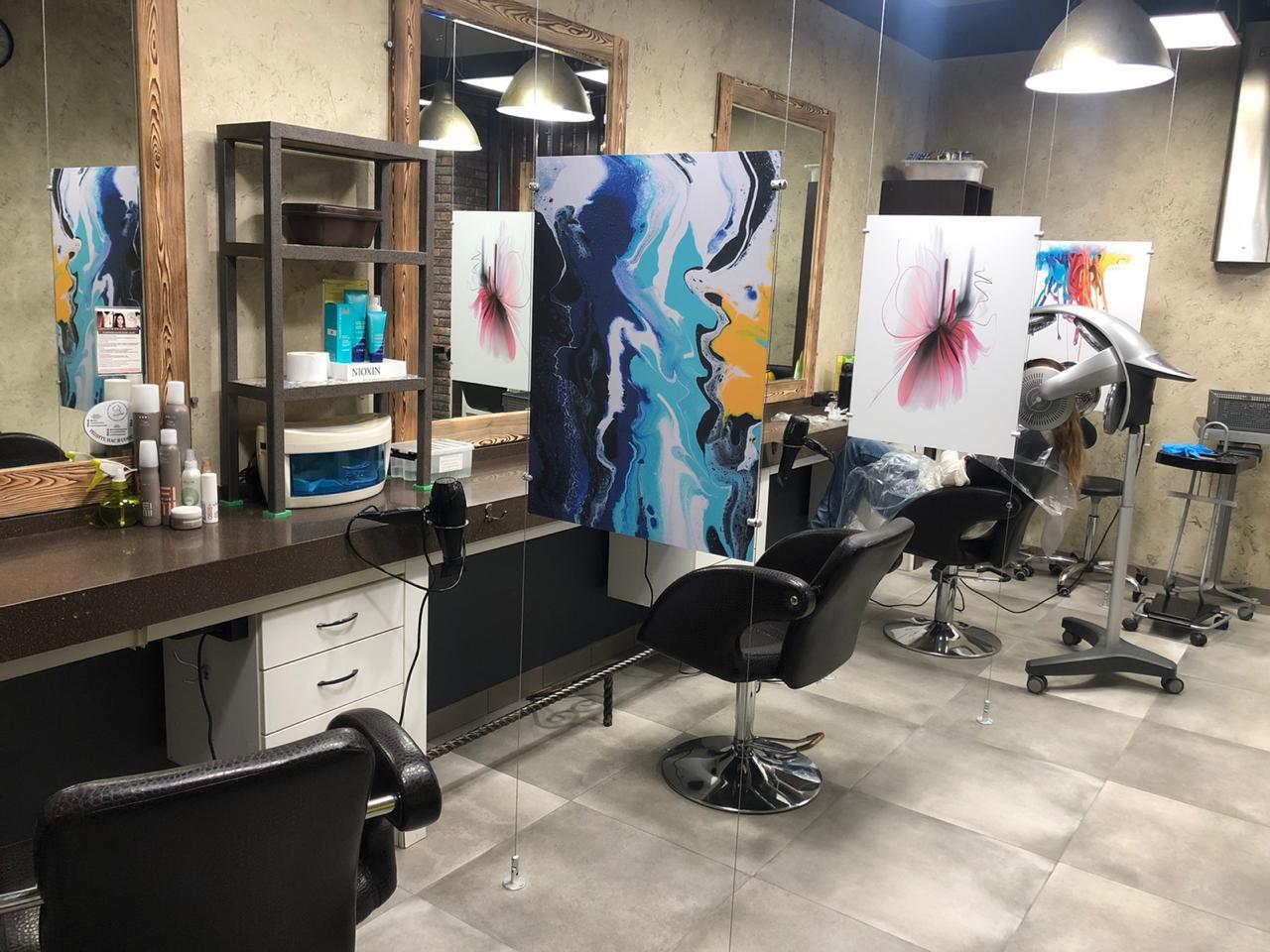 Общий парикмахерский зал